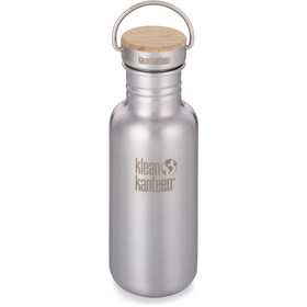 Klean Kanteen Reflect Bidón Tapa Bambú 532ml, brushed stainless
